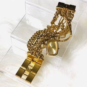 GUESS Gold chain link women watch